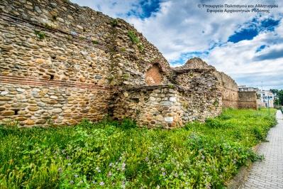 Крепост и византийски стени в Комотини