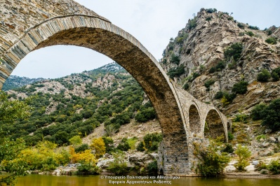 Medieval bridge in Polyanthos