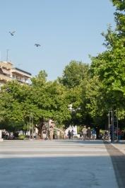 entrale Platz der Komotini (oder Friedensplatz)